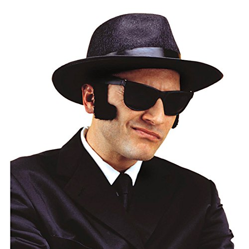 XL Koteletten Bart Blues Brothers Sideburns Kotelettenbart Rock 'n Roll Biker Rocker King Elvis Rockabilly Backenbart Punker 50er Jahre Hollywood Star Chops Schlagerparty Seitenbart Kotletten Schlager Party Karneval Kostüm Zubehör