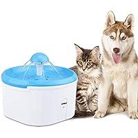 AEMIAO Gato Perro Bebedero Automático Fuente de Agua Inteligente con Sensor de Infrarrojos, 2.2 L Fuente de Agua Eléctrico Automático Bebederos Mascotas para Mascotas Perro Gato - Pack de 1 Filtros de Carbón
