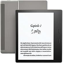 """E-reader Kindle Oasis Ricondizionato Certificato, resistente all'acqua, schermo da 7"""" ad alta risoluzione (300 ppi), 8GB, connettività Wi-Fi"""