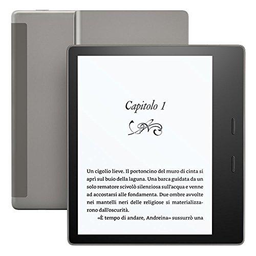 """Nuovo E-reader Kindle Oasis, resistente all'acqua, schermo da 7"""" ad alta risoluzione (300 ppi), 32 GB, connettività Wi-Fi + 3G gratuito"""