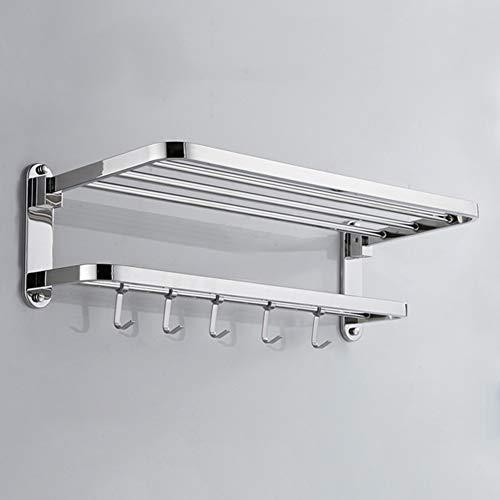 Acciaio inox parete bagno ripiani, doppia polarità mensola mensole bagno wc con gancio asciugamani