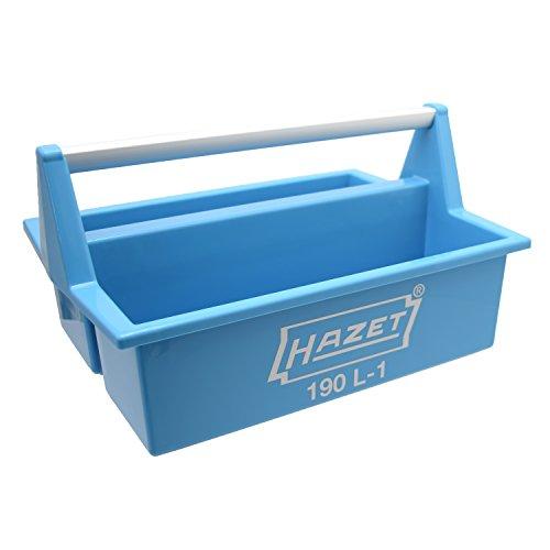 HAZET Werkzeugkasten, leer (aus lösemittelbeständigem Kunststoff, stabiler Aluminiumgriff) 190L-1