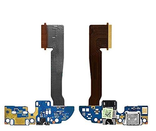Fologar Repuesto Flex Conector de Carga Micro USB Micrófono y Audio Jack para HTC One M8
