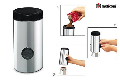 Meliconi dosacaffe' caffettiera, acciaio inossidabile, argento, 1 unità