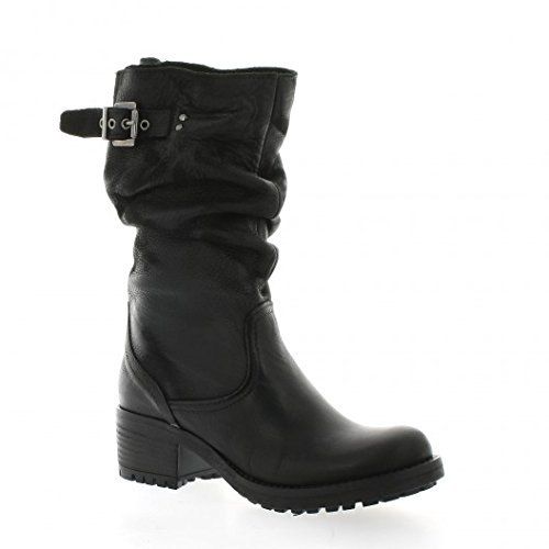 Pao Boots cuir nubuck noir Noir