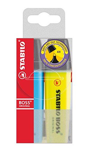 Textmarker - STABILO BOSS ORIGINAL - 2er Pack - gelb, blau