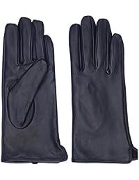 c87a9bf88298a0 ZQ-Collection Damen Lammfell Leder Handschuhe Winter Warm Langes  Fleecefutter Handschuhe