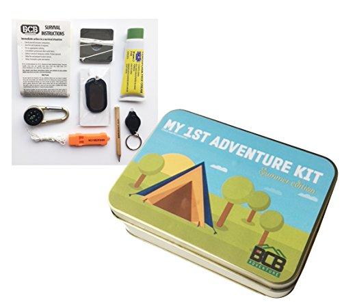 Bushcraft-Mi Primera Aventura Kit, Bronce, 12x 8,5x 3,5cm