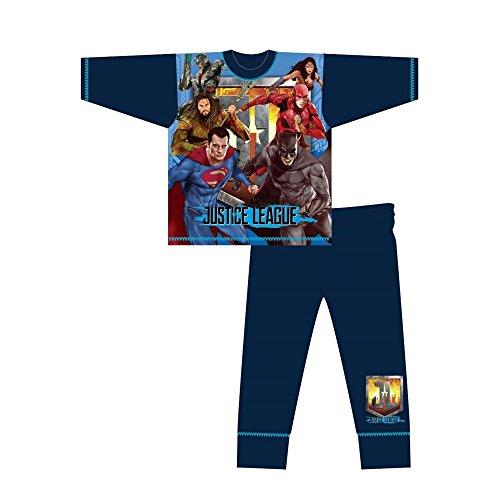 DC Comics - Pijama Infantil de Manga Larga de la Liga...