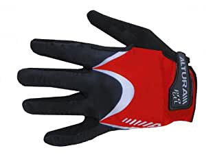 ALTURA Men's ProGel Asymetrix Full Finger Mitt, Red, S