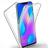 AROYI Huawei P Smart Plus/Smart+ Hülle 360 Grad Handyhülle, Silikon Crystal Full Schutz Cover [ 2 in 1 Separat Hart PC Zurück + Weich TPU Vorderseite ] Vorne und Hinten Schutzhülle für P Smart+