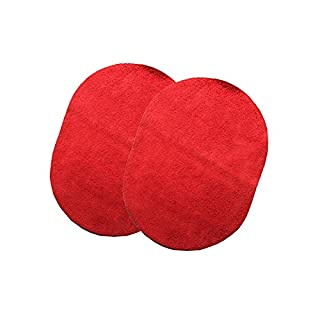 Ake Men Clothing Nähen Sewing Patch Leather Sweater Coat Jacket Sleeve DIY Decoration Elbow Pad Mat -Red