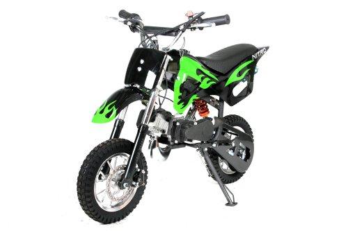 Dirtbike Crossbike 49cc DS67 Dirt Cross Pocket Bike Nitro Schwarz-Grün