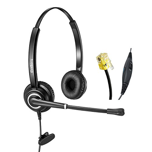 Telefon Headset Cisco IP Telefon Headset RJ9 Call center Headset mit Noise Cancelling Rauschunterdrückung Mikrofon Nur für Cisco IP Telefone (Cisco Ip-telefon-headset)