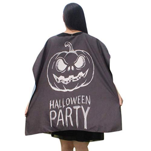 (ITISME DAMEN TOPS Frauen-Neuheit-Kürbis-Druck-Kap-Schal-Halloween-Poncho-Schal-Verpackungs-Kostüm)