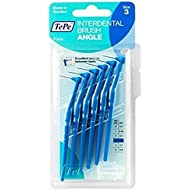 Tepe Angled 0.6mm Blue Interdental Brushes - Pack of 6