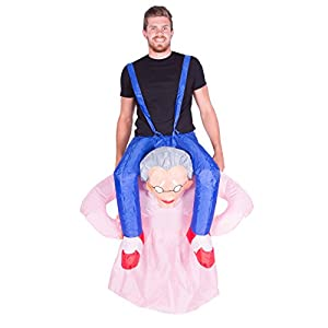 Bodysocks® Disfraz Hinchable de Abuela Adulto
