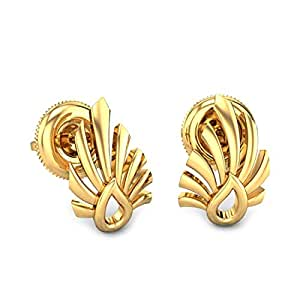 Candere By Kalyan Jewellers 18k (750) Yellow Gold Stud Earrings for Women