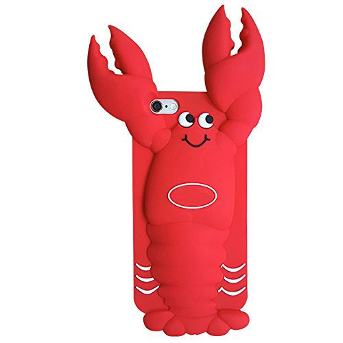"""Coque pour Iphone 6Plus/ 6S Plus (4,7 pouces), Koala Group® 3D ensembles de résistance à la chute de silicone des modèles animaux de """"Rainbow / White Cat / Black Cat / Love Cats / Burger Ours / Singe  Lobsters"""
