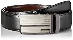 Walletsnbags Mens Leather Metro Rex Reversible Belt (B13_Black_40)
