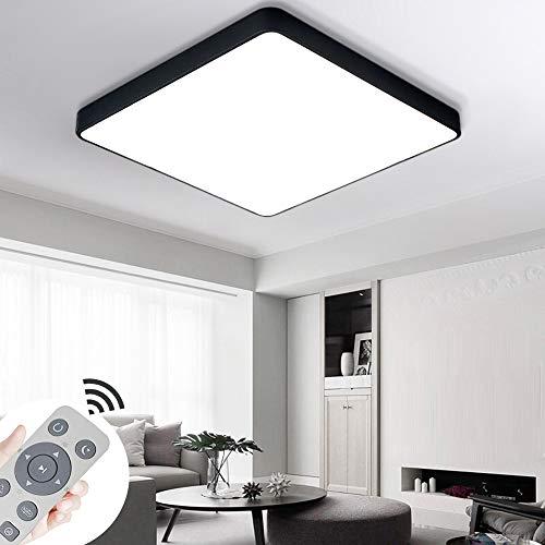 COOSNUG LED Deckenleuchte 36W Dimmbar Schwarz Quadrat Deckenlampe Modern Wohnzimmer Lampe Schlafzimmer Küche Panel Leuchte mit Fernbedienung