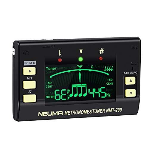 NEUMA Stimmgerät Tuner für Gitarre, Ukulele, Violin, Bass, Geige, Chromatischer, Metronom mit hoher Präzision für alle Musikinstrumente