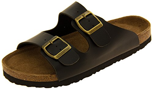 coolers-womens-black-2-strap-faux-leather-buckle-strap-mule-sandals-uk-5