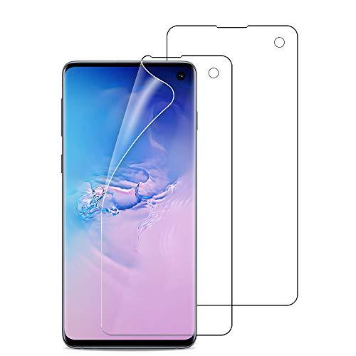 SLEO - Confezione da 2 pellicole Proteggi Schermo per Samsung Galaxy S10, Ultra Sottili, in TPU, Copertura Completa, Risposta istantanea, Senza Bolle, per Samsung Galaxy S10