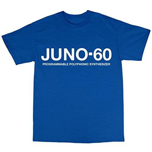 Juno-60 Synthesiser T-Shirt 100% Baumwolle Königsblau