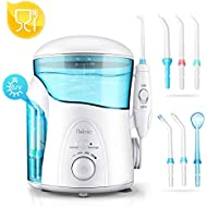 iTeknic Water Flosser with UV Sterilizer, Dental Oral Irrigator for Teeth with 2 Modes,7 Jet Nozzles and 600ml Reservoir,10 Stepless Water Pressure and FDA Approved, IPX4 Waterproof