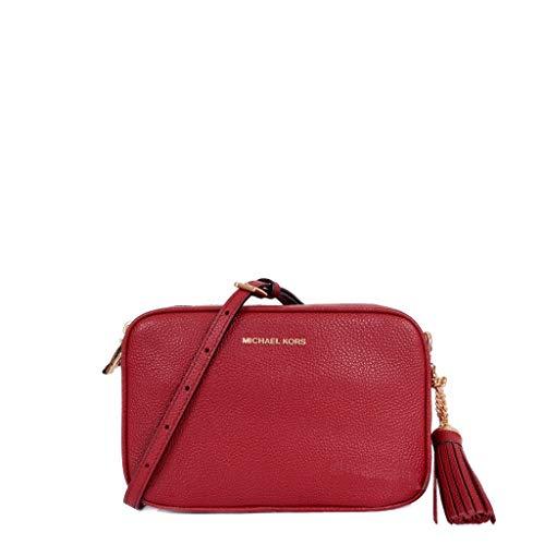 Michael Kors Leather Damen Cross Body Bag Dunkel Rot