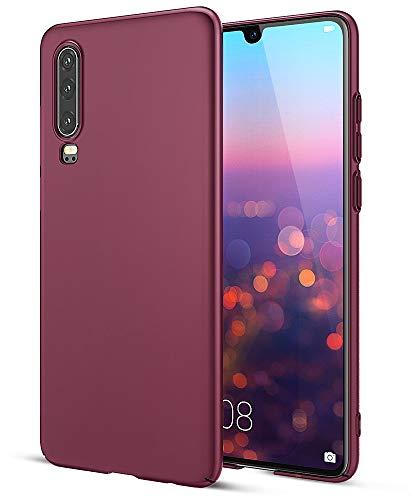 EIISSION Case Kompatibel mit Huawei P30 Hülle, Hardcase Ultra Dünn Huawei P30 Schutzhülle aus Hart-PC Case Cover Handyhülle für Huawei P30- Lila