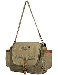 Priti Vintage Design Washed Canvas Audio Pocket Handbag Office Handbag Cross Body Bag Messenger Cross Body Shoulder...