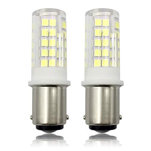 BA15D LED 230V 6W Dimmbar Glühbirne, 60W Halogen-Equivalent SBC Kleine Bajonett LED-Birnen für Nähmaschine/Appliance-Lampen, Kühles Weiß 6000K (2er Pack) (Bajonett-sockel)