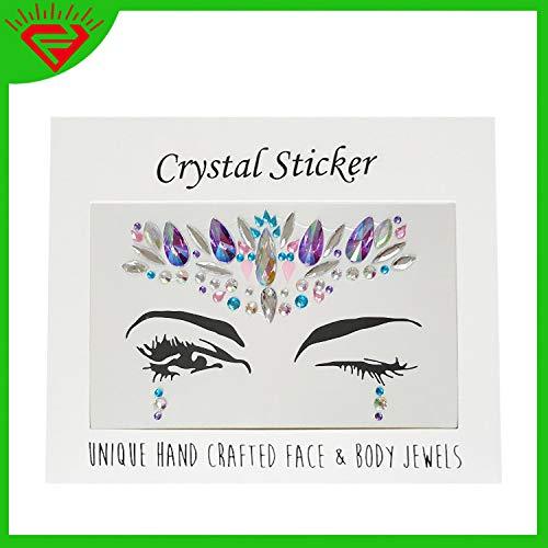 Monat Acryl Tattoo Aufkleber Diamant glänzend Spiegel Diamant Gesicht Dekoration Edelstein zurück Kleber Aufkleber -