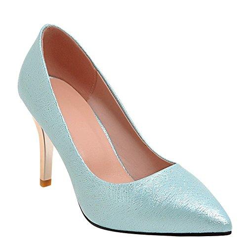 Mee Shoes Damen high heels spitz Geschlossen Pumps Blau
