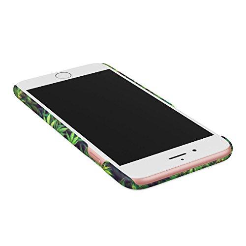 Relax Cannabis Leaves Pattern Custodia Posteriore Sottile In Plastica Rigida Cover Per iPhone 7 Plus & iPhone 8 Plus Slim Fit Hard Case Cover Trippy High