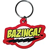Big Bang Theory - The porte-clés caoutchouc Bazinga 6 cm