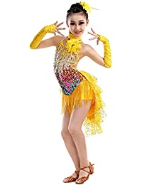 8ad512ddcc19e Magogo Robes de Danse Latine Swallowtail Jupe pour Les Filles