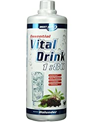 Best Body Nutrition Essential Vital Drink Holunder, 1:80, 1er Pack (1 x 1000 ml)