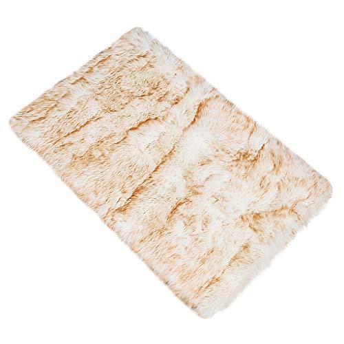 Dhyuen Wolle Nachahmung Schaffell Teppiche Faux rutschfeste Schlafzimmer Shaggy Teppich Matten Hause Teppich Weichem Plüsch -