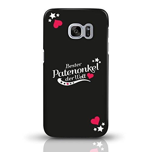 """JUNIWORDS Handyhüllen Slim Case für Samsung Galaxy S7 mit Schriftzug """"Bester Patenonkel der Welt"""" - ideales Weihnachtsgeschenk für den Patenonkel - Motiv 4 - Handyhülle, Handycase, Handyschale, Schutz motiv 1"""
