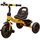 Stepupp Tricycle For Kids Yellow Colour With Basket Baby Tricycle For Baby Boy Or Baby Girl Kids Trikes Or Toddler Tricycle For 1,2,3,4,5 Year Kids