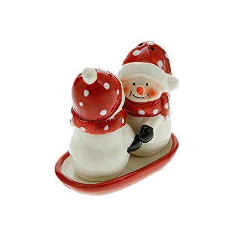 Table de Noël Snowmen & Salière poivrière-Ensemble sel et poivre