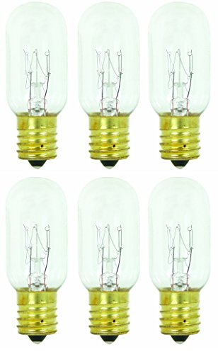 6Stück 25t825W Glühbirne Salt & Lampe Appliance T8mit Leuchter Boden, klar Leuchtmittel -