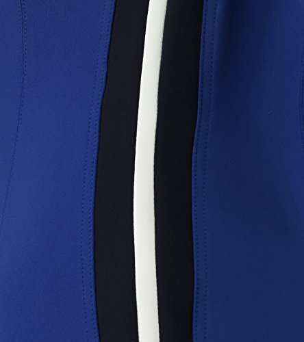 Claudia Sträter Damen Jersey-Kleid mit Colourblocking-Streifen Blau