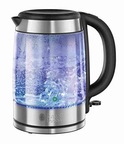 Russell Hobbs Glass 21600-57 - Hervidor de agua de cristal y acero inoxidable, 1.7 litros, 2200 W