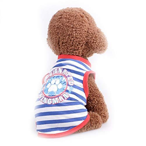 Sangni Atmungsaktives T-Shirt Weste Streifen, blau, M -
