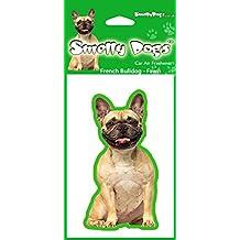 BullDog francés (Fawn) perro regalo–2x. Ideal ambientadores para el coche