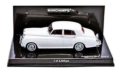 minichamps-143-scala-rolls-royce-argento-nuvola-ii-1960-auto-bianco